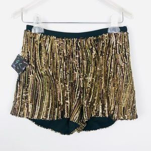 Nasty Gal Shorts - Festival🎡Nasty Gal Gold sequin shorts